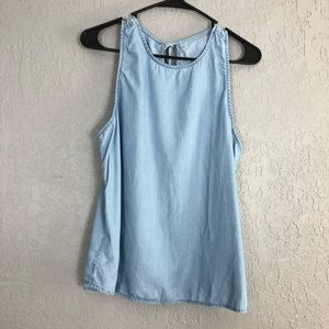 Gap chambray sleeveless tank size large
